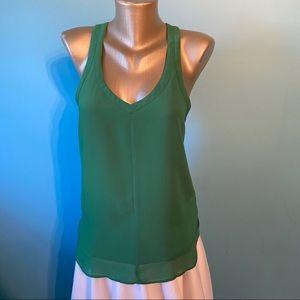 Silence & Noise women's open back green tank top